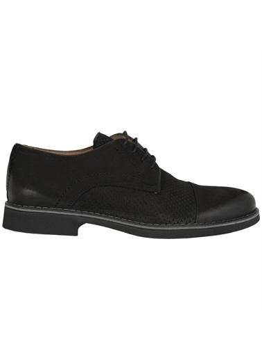 Castle Black Castle Black 9551 Deri Bağcıklı  Erkek Günlük Ayakkabı Siyah